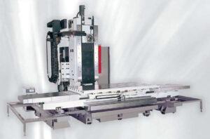 Фото станины горизонтально-фрезерного станка (ОЦ) с подвижной колонной с ЧПУ Eumach FCN-3200