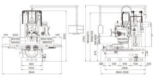 Универсальный фрезерный станок Fortworth CS-WCN-5VHL размеры